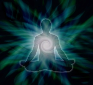 Meditating with healing energy